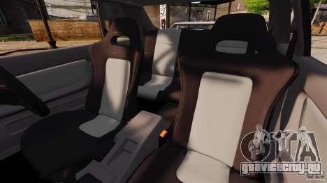 Nissan Skyline GT-R (BNR32) для GTA 4 вид изнутри