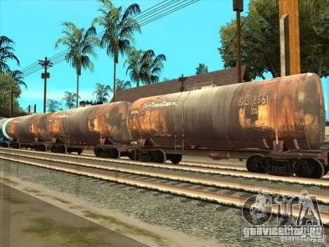 Товарные вагоны 2 для GTA San Andreas вид сзади слева