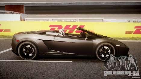Lamborghini Gallardo LP560-4 Spyder 2009 для GTA 4 вид изнутри