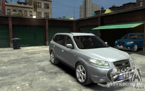 Hyundai Santa Fe для GTA 4 вид сзади