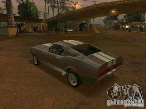 Ford Shelby GT500 Eleanor для GTA San Andreas вид сзади слева