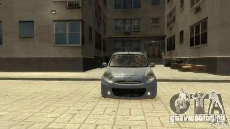 Nissan Micra для GTA 4 вид слева