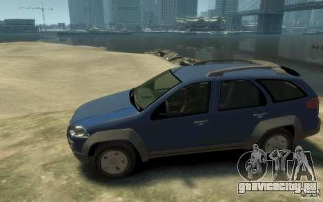 Fiat Palio Adventure Locker для GTA 4 вид слева