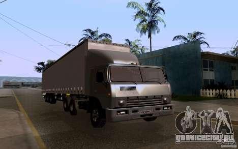 КамАЗ 55111 для GTA San Andreas вид сзади