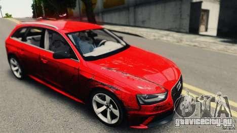 Audi RS4 Avant 2013 v2.0 для GTA 4 вид сзади