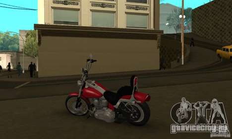 Harley Davidson softail Skin 1 для GTA San Andreas вид сзади