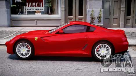 Ferrari 599 GTB Fiorano для GTA 4 вид сзади слева