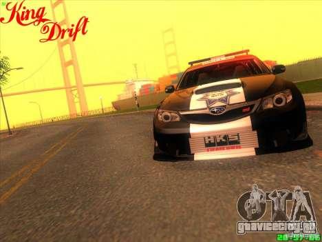 Subaru Impreza WRX Police для GTA San Andreas вид сзади