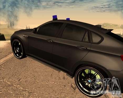 BMW X6 M E71 для GTA San Andreas вид справа