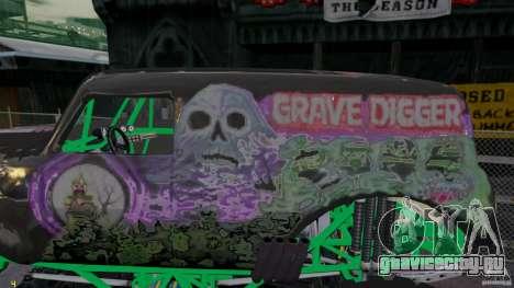 Grave digger для GTA 4 вид слева