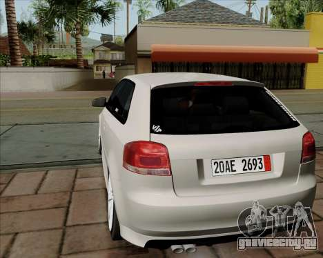 Audi S3 V.I.P для GTA San Andreas вид справа