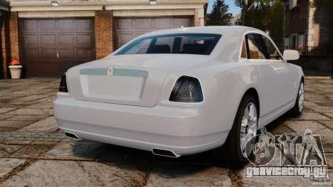 Rolls-Royce Ghost 2012 для GTA 4 вид сзади слева