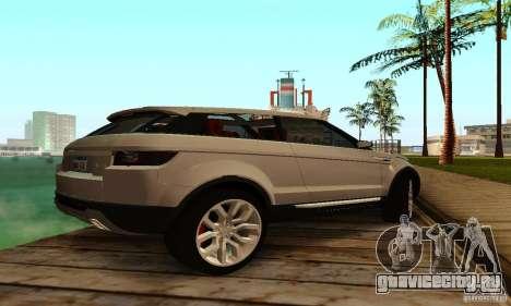 Land Rover Range Rover Evoque для GTA San Andreas вид справа