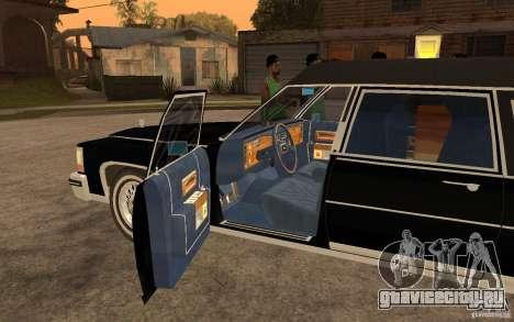 Cadillac Fleetwood Hearse 1985 для GTA San Andreas вид слева