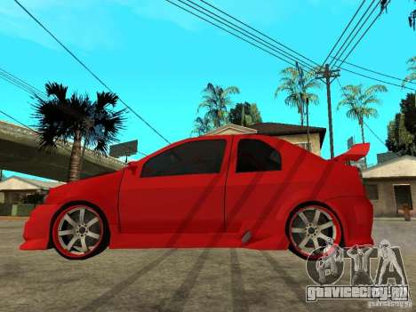 Dacia Logan Tuned v2 для GTA San Andreas вид слева