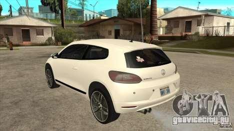Volkswagen Scirocco 2009 для GTA San Andreas вид сзади слева