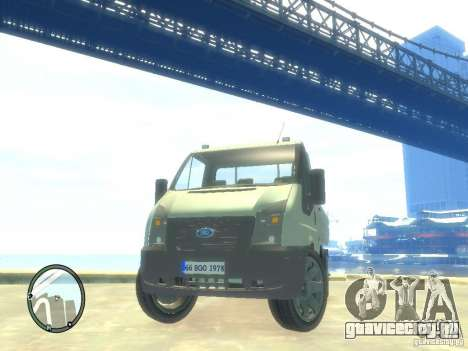 Ford Transit 2007 Pickup для GTA 4 вид сзади