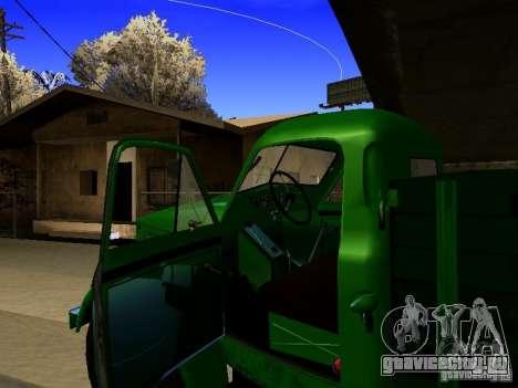 ГАЗ 51А для GTA San Andreas вид изнутри