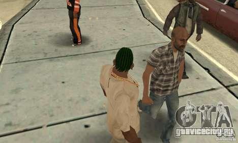 Зеленый корнроу для GTA San Andreas второй скриншот