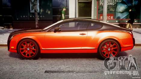 Bentley Continental SS 2010 Le Mansory [EPM] для GTA 4 вид слева