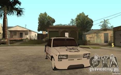 ВАЗ 2106 Hard Tuned для GTA San Andreas вид сзади