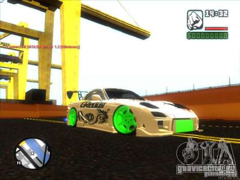 Mazda RX-7 Drift Version для GTA San Andreas вид сзади слева