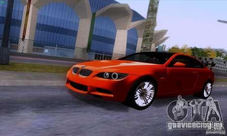 BMW M3 E92 v1.0 для GTA San Andreas вид изнутри