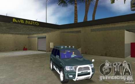 Toyota Land Cruiser 100 для GTA Vice City вид сзади