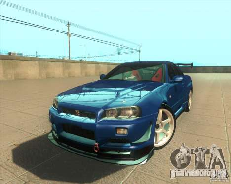 Nissan Skyline GT-R R34 M-Spec Nur для GTA San Andreas
