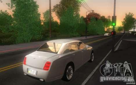 Bentley Continental Flying Spur для GTA San Andreas вид сзади слева