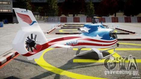 Eurocopter EC 130 B4 USA Theme для GTA 4 вид сбоку