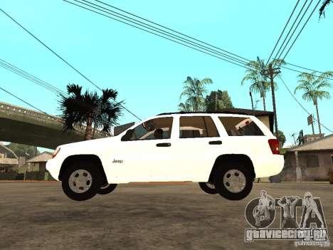 Jeep Grand Cherokee 99 для GTA San Andreas вид слева