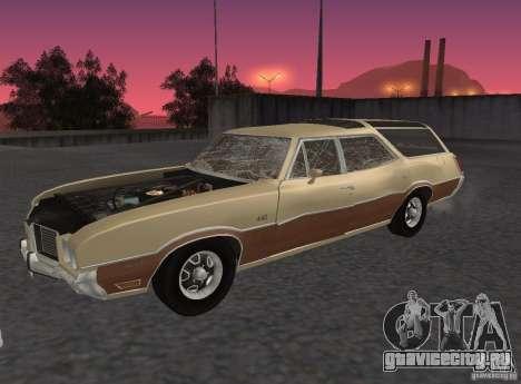 Oldsmobile Vista Cruiser 1972 для GTA San Andreas вид сзади