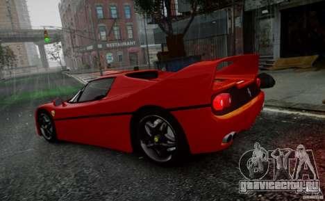Ferrari F50 1995 для GTA 4 вид изнутри
