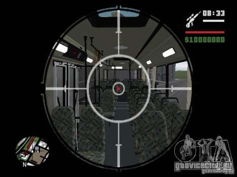 Ikarus 415.02 для GTA San Andreas вид сверху