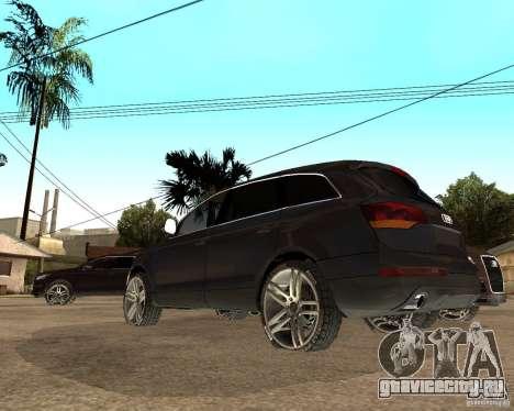 Audi Q7 4.2 FSI для GTA San Andreas вид сзади слева