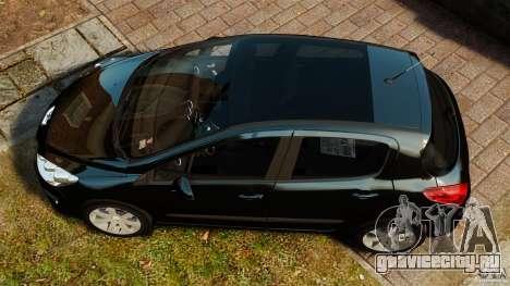 Peugeot 308 2007 для GTA 4 вид справа