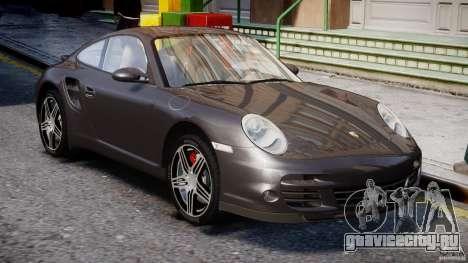 Porsche 911 Turbo для GTA 4 вид сбоку