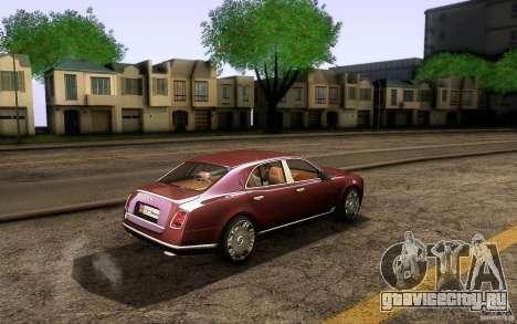 Bentley Mulsanne 2010 v1.0 для GTA San Andreas вид сзади