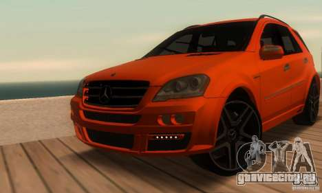 Mercedes-Benz ML63 AMG Brabus для GTA San Andreas вид сбоку