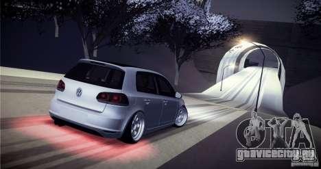 Volkswagen Golf VI 2010 Stance Nation для GTA San Andreas вид снизу