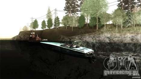 Wellcraft 38 Scarab KV для GTA San Andreas вид слева