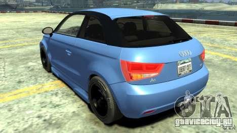 Audi A1 для GTA 4 вид сзади слева