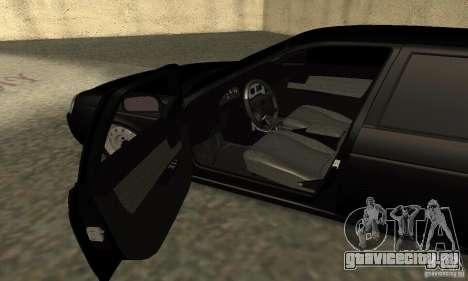 Lada 2170 Priora Pnevmo для GTA San Andreas вид сзади