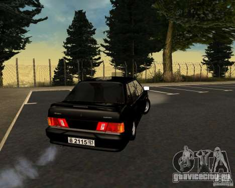 ВАЗ 2115 TJK для GTA San Andreas вид сзади слева