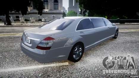 Mercedes-Benz S600 Guard Pullman 2008 для GTA 4 вид слева