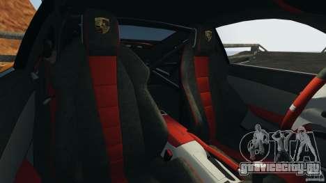 Porsche 911 GT2 RS 2012 v1.0 для GTA 4 вид изнутри