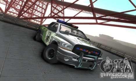 Dodge Ram 1500 POLICE 2008 для GTA San Andreas вид сзади слева