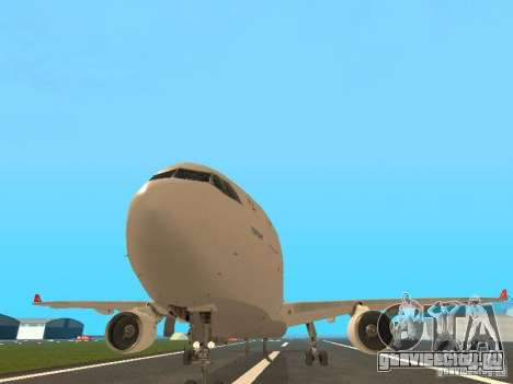 Airbus A330-300 Turkish Airlines для GTA San Andreas вид сзади