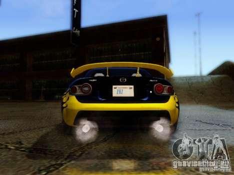 Mazda MX-5 2007 для GTA San Andreas вид изнутри
